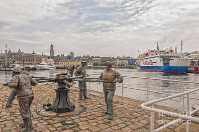 Handcarved Photograph - Helsingborg Sailors Monument by Antony McAulay
