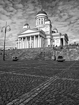 Church Fixture Photograph - Helsinki Cathedral by Claudio Bacinello