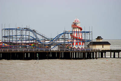 Rollercoaster Photograph - Helter Skelter by Martin Newman