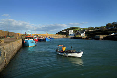 Fishing Harbour Photograph - Helvick Harbour, On The An Rinn Ring by Panoramic Images