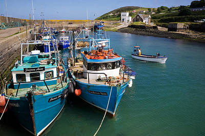 Fishing Harbour Photograph - Helvick Harbour, Ring Gaeltacht Region by Panoramic Images