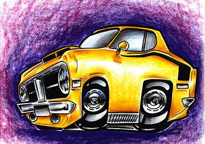 Super Cars Drawing - Hemi by Big Mike Roate