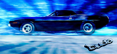 Hemi Cuda Art Print by Phil 'motography' Clark