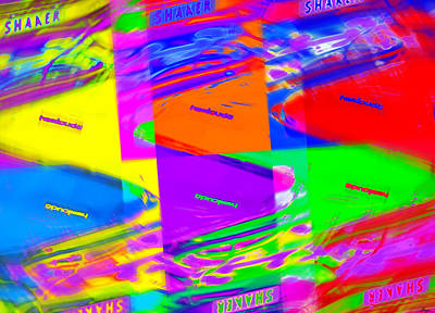 Photograph - Hemi'cuda Shaker Hood Pop Art by Gordon Dean II