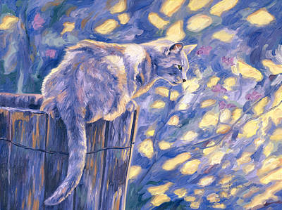 Key West Painting - Hemingway Cat by Lucie Bilodeau