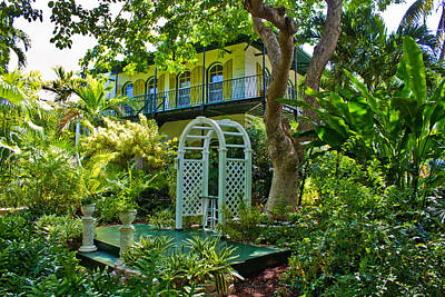 Hemingway House Wall Art - Photograph - Hemingway House In Key West Florida by John McGraw