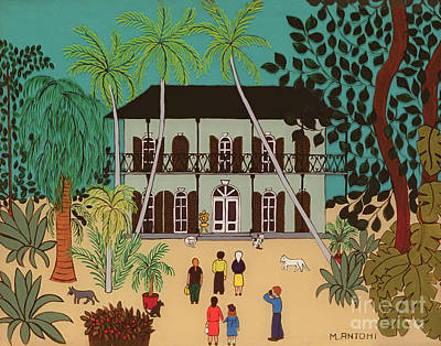 The Dog House Painting - Hemingways House Key West Florida by Micaela Antohi