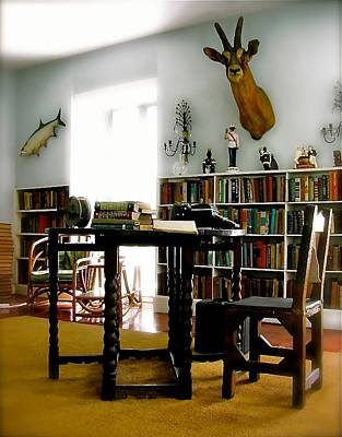 Photograph - Hemingway's Studio II  Ernest Hemingway by Iconic Images Art Gallery David Pucciarelli