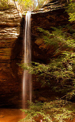 Photograph - Hemlocks And Waterfall by Haren Images- Kriss Haren
