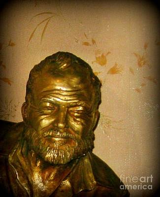 Hemmingway In Havana Art Print by John Malone