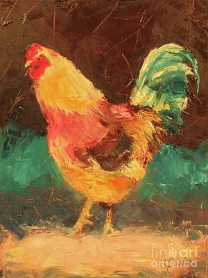 Painting - Hen In Vermont by Janet Poirier
