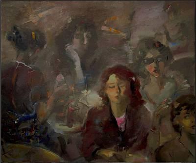 Hen Party Print by Danail Tsonev