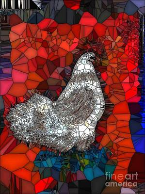 Painting - Hen Watch I by Saundra Myles