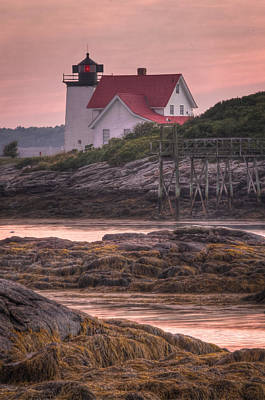 Mid-coast Maine Photograph - Hendricks Head Light At Sunset - Portrait by At Lands End Photography