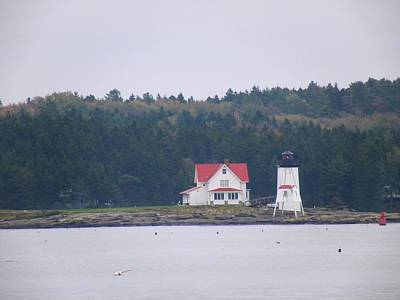 Photograph - Hendricks Head Light by Gene Cyr