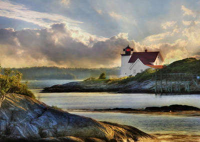 Hendricks Head Light Art Print by Lori Deiter
