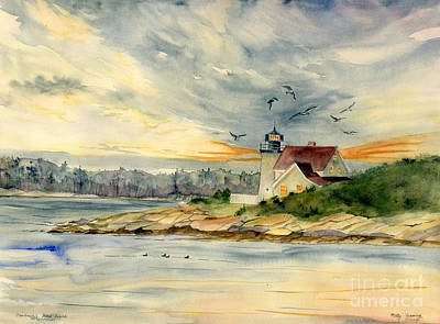Painting - Hendricks Head Light by Melly Terpening