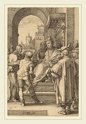 Hendrik Goltzius Dutch, 1558-1617, Christ Before Pilate Art Print