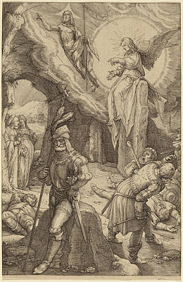 Resurrection Drawing - Hendrik Goltzius Dutch, 1558 - 1617, The Resurrection by Quint Lox