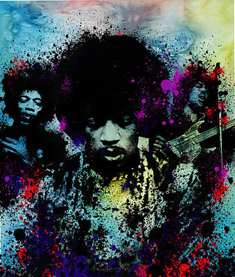 Jimi Hendrix Digital Art - Hendrix 4 by Bekim Art