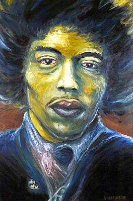 Painting - Hendrix Experienced by Mike Underwood