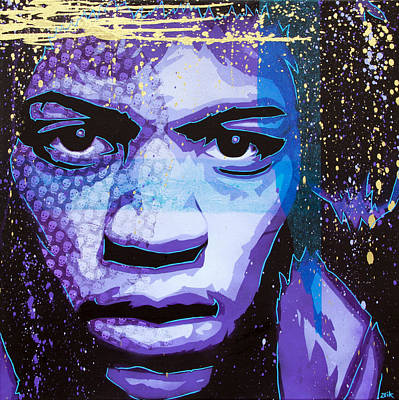 Purple Haze Painting - Hendrix - Eyes Of Neptune - Alternate by Bobby Zeik