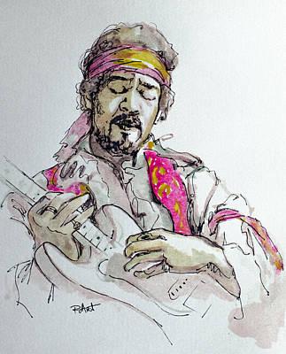 Hendrix Art Print by Laur Iduc