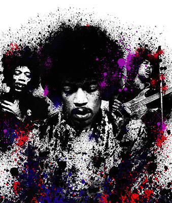 Jimi Hendrix Digital Art - Hendrix by Bekim Art
