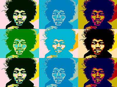Music Mixed Media - Hendrix Pop Art Collage by Dan Sproul