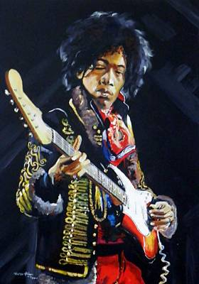 Hendrix Art Print by Terence R Rogers