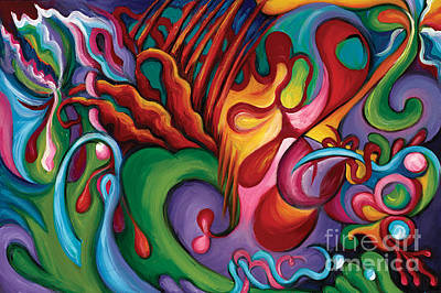 Abstract Expressionist Painting - Hendrix Voodoo Magick by Tiffany Davis-Rustam