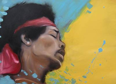 Painting - Hendrix Woodstock by Matt Burke