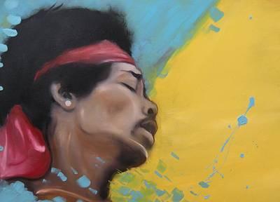 Hendrix Woodstock Art Print