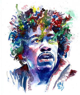 Hendrixhead Art Print by Ken Meyer jr