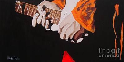 Hendrix's Fingers Art Print by Stuart Engel
