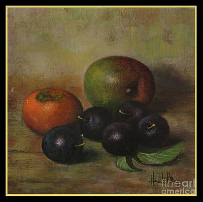 Henk Bos Fruits Still Life Plums  Art Print by Pierpont Bay Archives