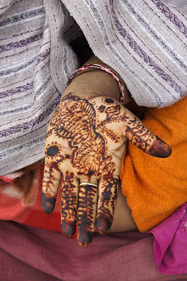 Photograph - Henna Hands by Michele Burgess