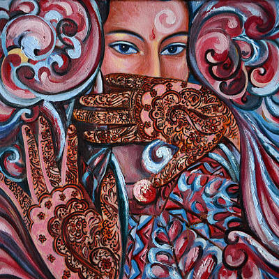 Print featuring the painting Henna by Harsh Malik