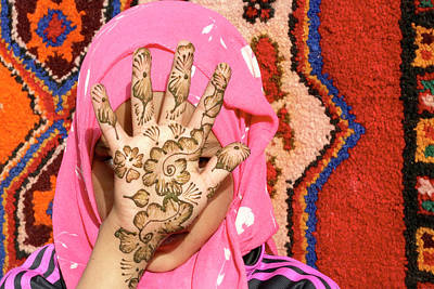 Moroccan Photograph - Henna Tattoo by Thierry Berrod, Mona Lisa Production