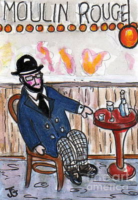 Painting - Henri Always Enjoys His Evenings. by Joyce Gebauer