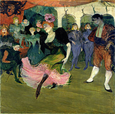 Lender Painting - Henri De Toulouse-lautrec, Marcelle Lender Dancing by Litz Collection
