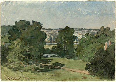 1916 Drawing - Henri-joseph Harpignies, Briare, French, 1819-1916 by Litz Collection