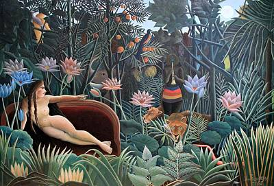 Henri Rousseau The Dream 1910 Art Print by Movie Poster Prints
