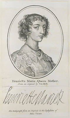 Portaits Photograph - Henrietta Maria by British Library