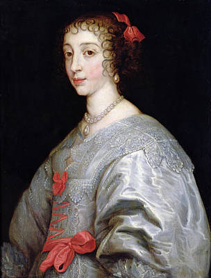 Henrietta-maria Of France 1609-69 Oil On Canvas Art Print by Sir Anthony van Dyck