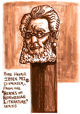 Monotone Drawing - Henrik Ibsen by Del Gaizo