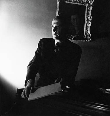 Piano Photograph - Henry Barraud Holding Paper by Horst P. Horst