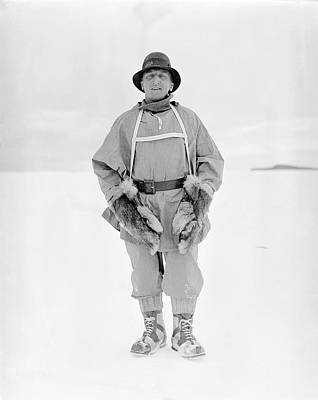 Hauling Photograph - Henry Bowers by Scott Polar Research Institute