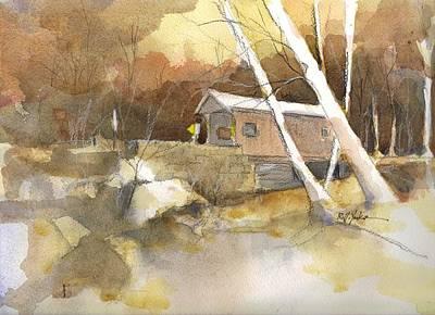 Henry Bridge In Fall  Art Print by Robert Yonke