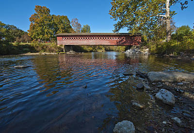 Photograph - Henry Covered Bridge by Rick Hartigan